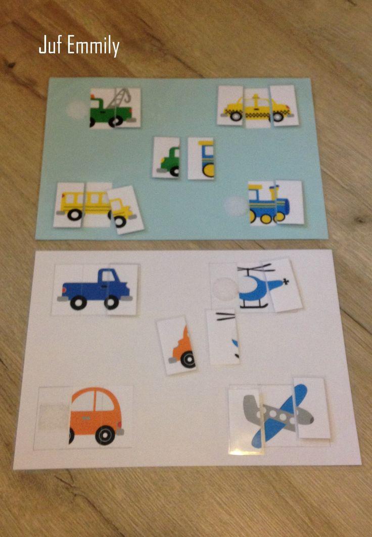 Puzzels in thema Verkeer/ voertuigen (Juf Emmily)