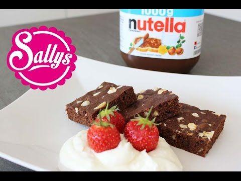 Sallys Blog - Nutella-Brownies mit nur 3 Zutaten