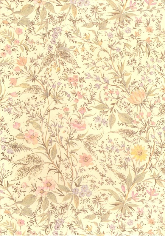 wallpaper vintage flowers cream - photo #22