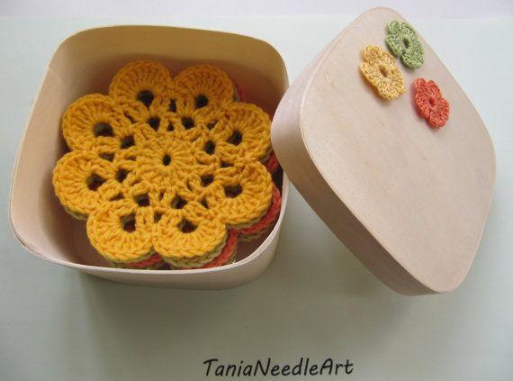 6 Lace Crochet Coasters Set, Crochet Cup Pads, Placemats Crochet, Home Crochet Table Decor, House Gifts