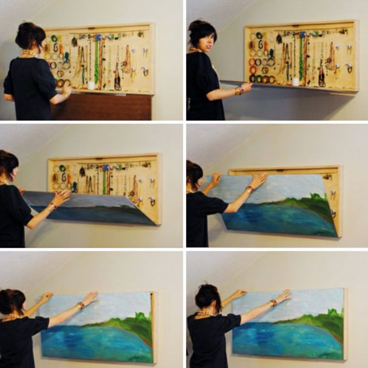 smart folding painting and jewellery storage.