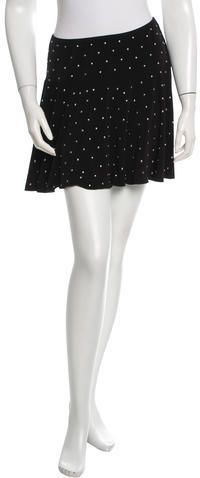 Anna Sui Stud-Accented Mini Skirt