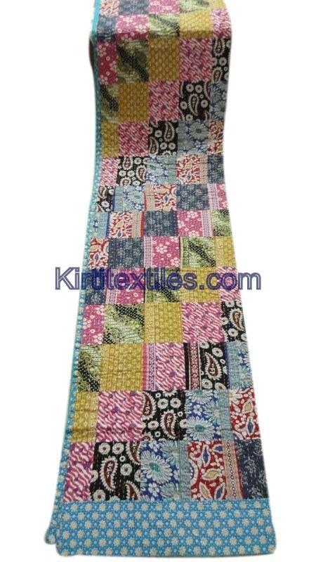 Bengali Gudri Sanganeri Block Printed Cotton Fabric Made Vintage Style Patchwork  Elegant Look Throw Bedspread From Jaipur Rajasthan India