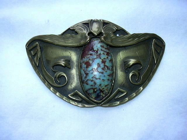 Art Deco Or Arts & Crafts Brooch George Steele Wings from antiques-jewelry-sacred-treasures on Ruby Lane