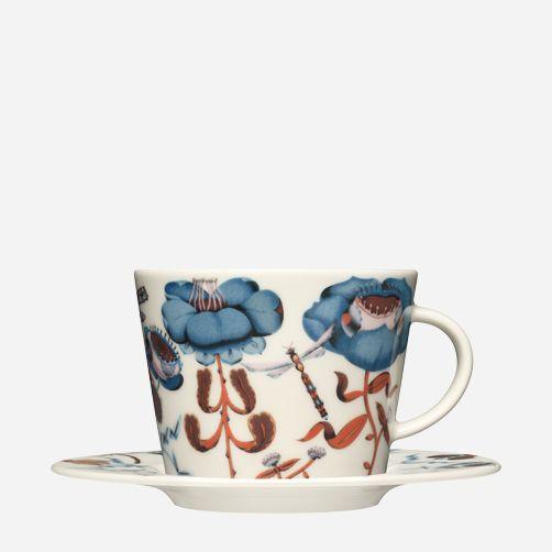 Iittala - Products - Eating - Dinnerware - Coffee-/ Tea cup 0,3 l/plate 16 cm blue