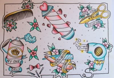 hair stylist old school tattoo ideas, maybe one day!
