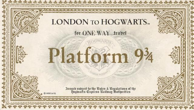 Harry Potter Birthday - Train Ticket printable - free.  Hogwarts Express Ticket.jpg ~~ DID IT ~~ Used in the invite, not that big of a deal though.