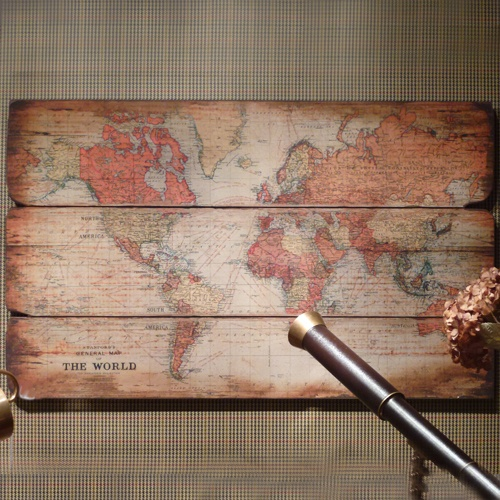 145 best we love images on pinterest arquitetura bedroom ideas large wooden world wall hanging beau decor love this elegant shabby chic world map picture gumiabroncs Images