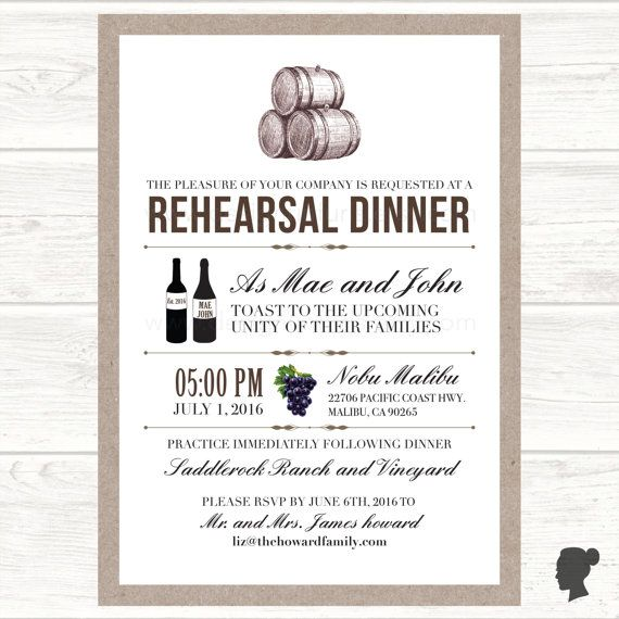 Best  Rehearsal Dinner Email Invitations Ideas On