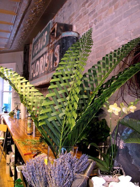palm leaf weaving!