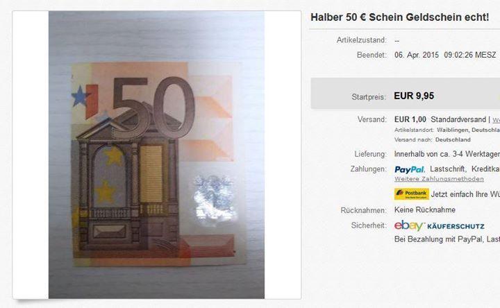 Halber 50€ Schein