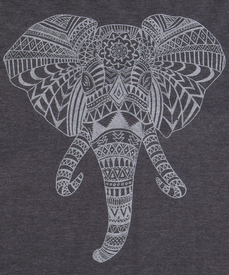 Elephant Aztec Head T-Shirt