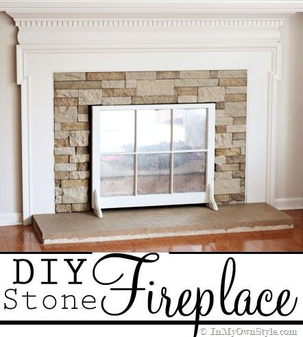 141 best images about my fake fireplace on pinterest for Stone fireplace makeover ideas