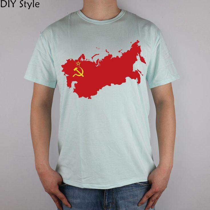 Ussr Russia Russian Red logot-shirt Top Lycra Cotton Men T Shirt New Design High Quality Digital Inkjet Printing #Affiliate
