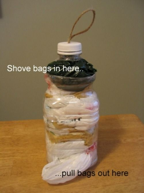 Looking for easy storage, how about this DIY Plastic Bag Keeper and Camping Hacks, Tips and Tricks on Frugal COupon Living.