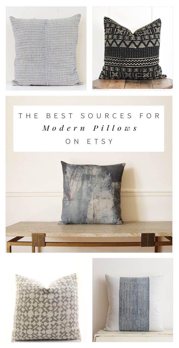 Interior stylist Anna Smith shares her favorite sources for modern, bohemian pillows under $100. Kilim, shibori, mudcloth, Hmong -- they're all here!