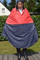 Regencape Umhang Poncho Pelerine Friesennerz Gummicape Lackmantel PVC Rot Blau