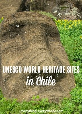 There are six UNESCO World Heritage Sites in Chile. All the sites are cultural sites, and Rapa Nui is located on Easter Island.