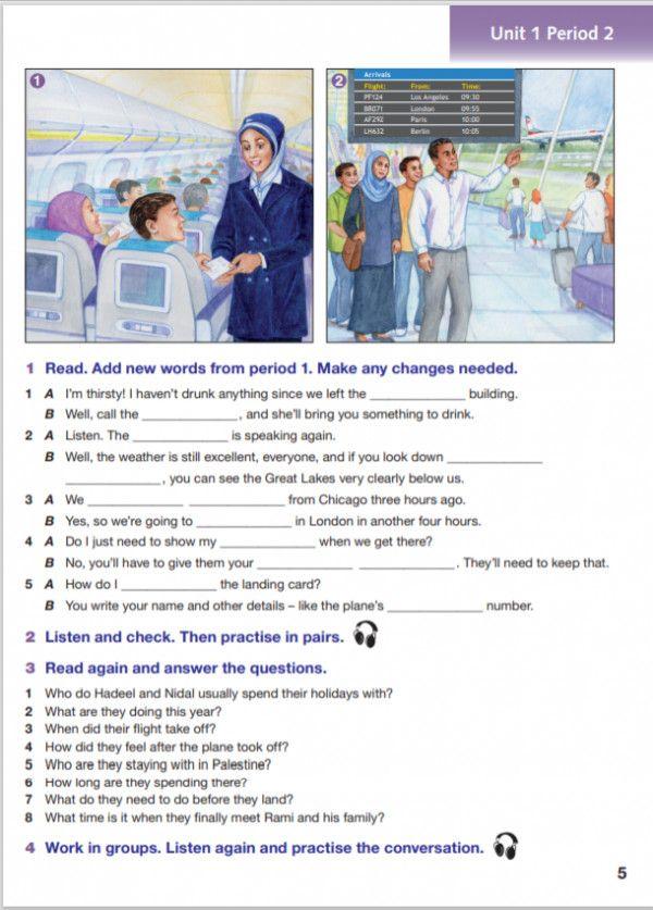 اهداف درس انجليزي New Words The Unit Reading