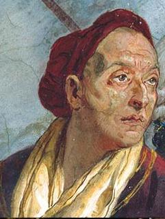 Giovanni Battista Tiepolo (1696-1770), self-portrait, würzburg residenz, c. 1750