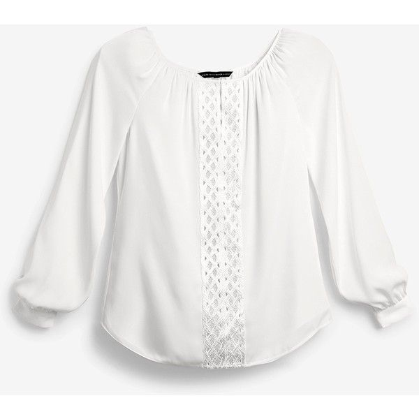 White House Black Market Embroidered Blouse ($98) ❤ liked on Polyvore featuring tops, blouses, white peasant blouse, peasant tops, white top, white boho blouse and petite tops