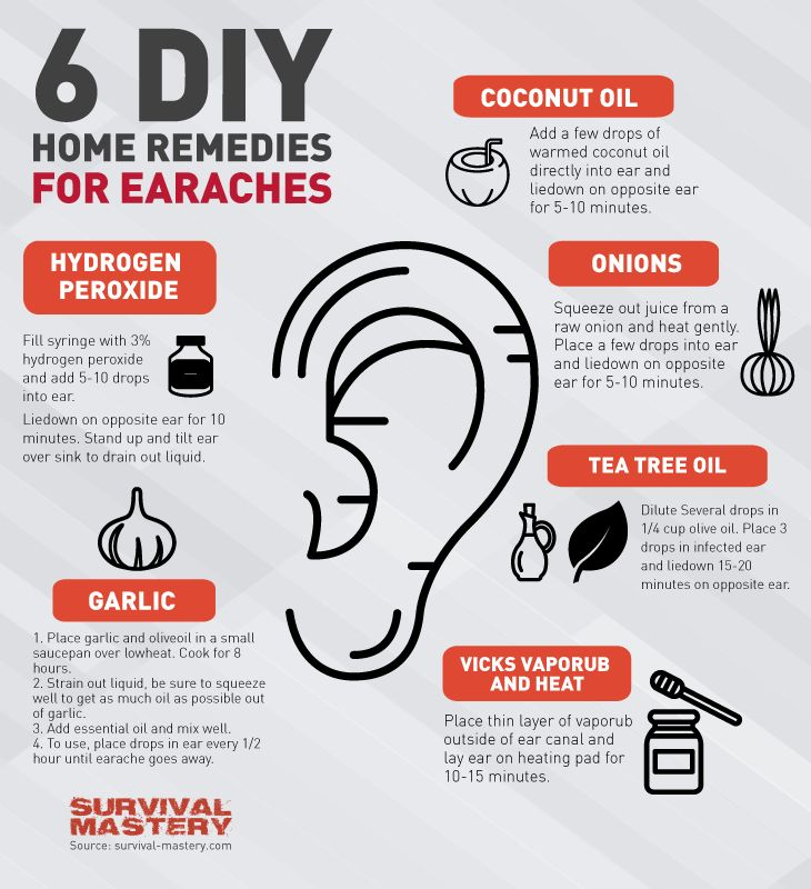 DIY home remedies for earaches infogprahic