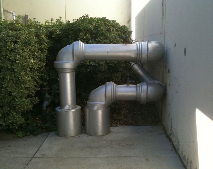 Water pipes at Pierce Community College, Woodland Hills, CA.