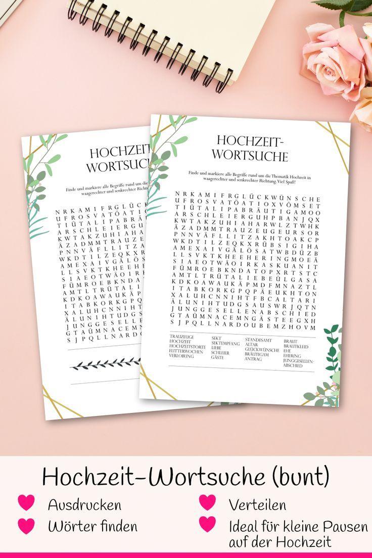 Hochzeitsspiel Wortsuche Bunt Fur Gaste Als Pdf Zum Selbstdruck Hochzeit Spiele Hochzeitsspiele Hochzeit Aktivitaten
