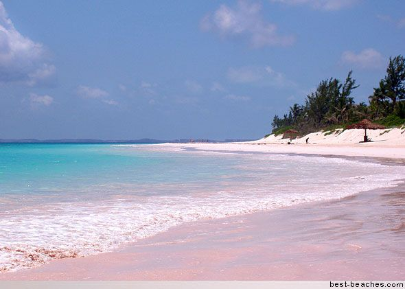 The naturally pink sand beaches of the Bahamas. Yes I pinned this place twice but it's my home so I have to show favoritism.