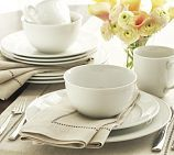 Great White Traditional Dinnerware, 16-Piece Set with Cereal Bowl-PB