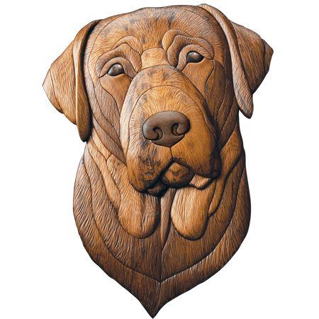 Dog Scroll Saw Intarsia Patterns (Intarsia Woodworking)