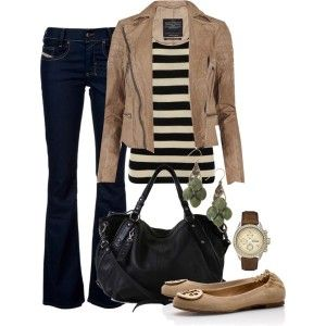 Super cute outfit. I'd swap the bootleg for skinny jeans and do a more structured purse. Jacket may wash me out though.