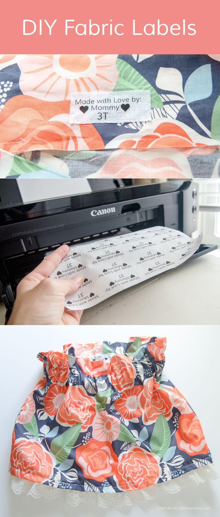 Make your own DIY Fabric Labels with your printer! @CanonUSA #sponsored