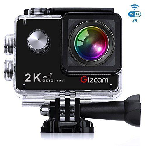 Caméra Sport Gizcam GZ10 plus Action Camera 1080P 60fps WiFi Caméra étanche 2K 12MP 173º Grand Angle Écran Full HD 2.0″ avec 2 batteries et…