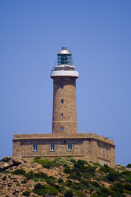 Capo Sandalo lighthouse [1864 - San Pietro Island, Sardinia, Italy]