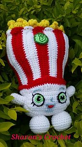 This is my interpretation of Poppy Corn - Shopkins. Plushie - Crochet Pattern. 29cm. Miss Mushy-Moo is also available in my collection.