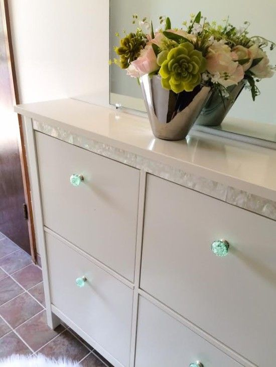Classy Makeover For A Hemnes Shoe Cabinet