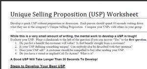 unique-selling-proposition-worksheet