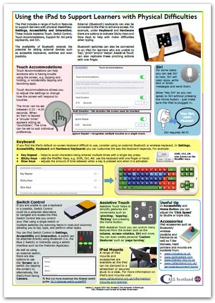 Using the Ipad to Support Learners with Physical Difficulties