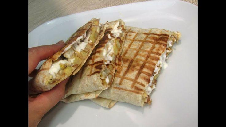 وجبة عشاء في 10 دقائق تاكوس رووووعة بصلصة الجبن سريعة  tacos maison rapide