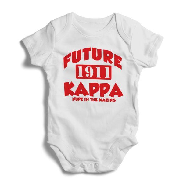 Future Kappa Alpha Psi Baby Onesie (White) – Letters Greek Apparel