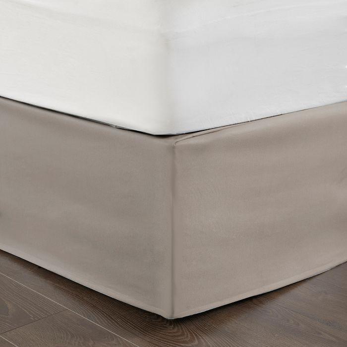 Khaki Simple Fit Wrap Around Adjustable Bed Skirt Adjustable Beds Bedskirt Solid Bed