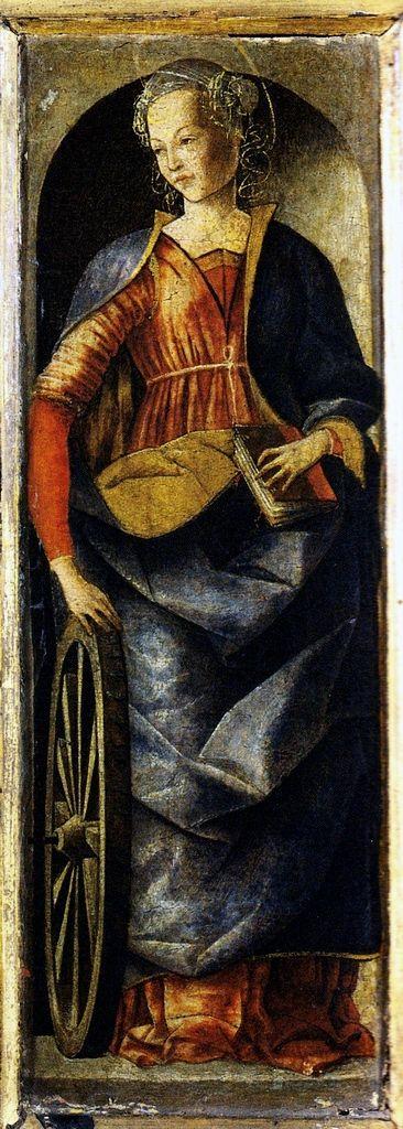 Ercole de' Roberti (Italian, c. 1451-1496) - Polittico dei Griffoni, detail - Santa Caterina d'Alessandria