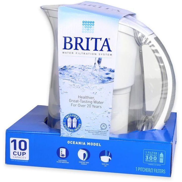 Brita Water Filtration System Kit with 1 Pitcher and 2 Filters