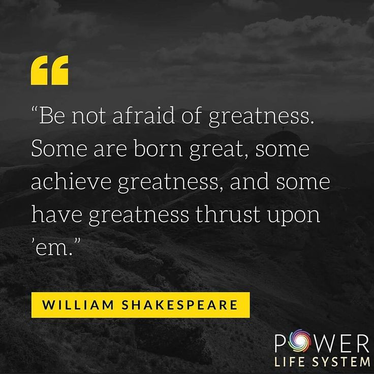 Be not afraid of #greatness #powerlifesystem