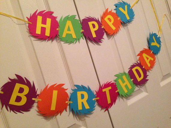 Dr. Seuss' The Lorax Happy Birthday Banner by SavorEachSecond, $24.00