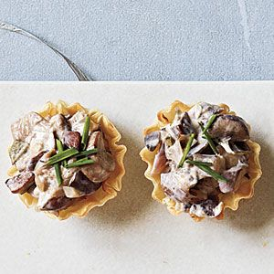 45 Easiest Finger Foods Ever | Mushroom and Goat Cheese Cups | MyRecipes.com