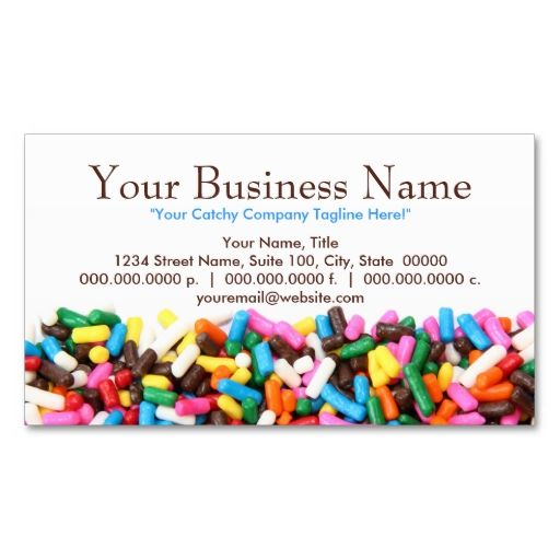 51 best bakery business cards images on pinterest bakery business sprinkles filled business cards this is a fully customizable business card and available on several reheart Choice Image