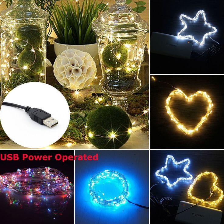 10M 100 LEDs USB Lichterkette Streifen Weihnachtslichterkette Kette Außen  Innen