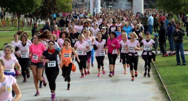 Top départ de la 14e Cadurcienne, la course contre le cancer du sein.
